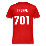T-Shirts ~ Men's Premium T-Shirt ~ THORPE SHERSY RED N WITE