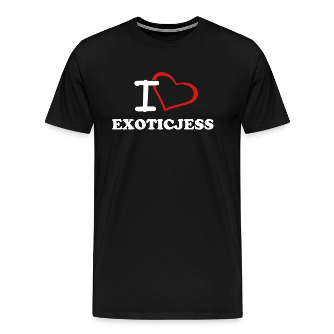 I Love ExoticJess T-Shirt (White Text)