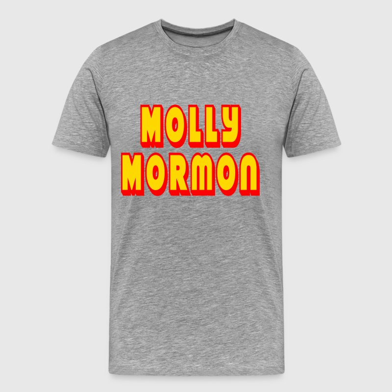 Heather grey Molly Mormon T-Shirts - Men's Premium T-Shirt