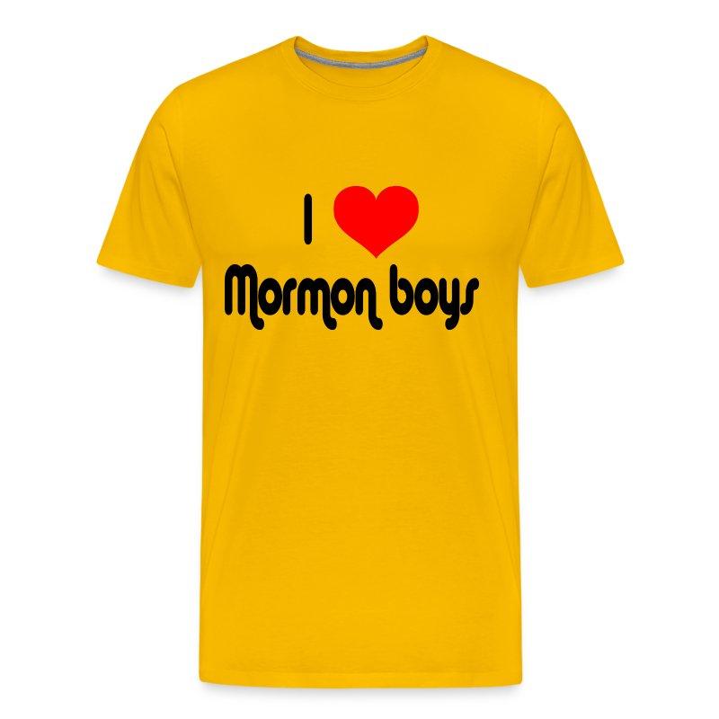 I Love Mormon Boys T-Shirt | Spreadshirt