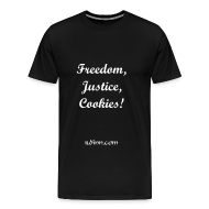 T-Shirts ~ Men's Premium T-Shirt ~ Freedom, Justice, Cookies!