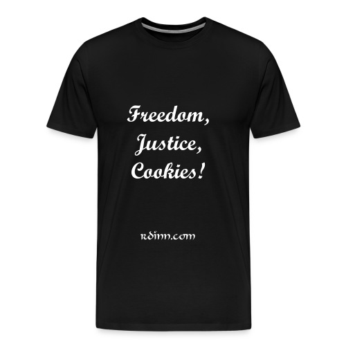 Freedom, Justice, Cookies! - Men's Premium T-Shirt