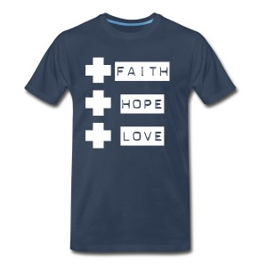 Faith Hope Love 3 Crosses - Men's Premium T-Shirt