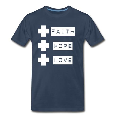 Faith Hope Love 3 Crosses - Men's Premium T-Shirt