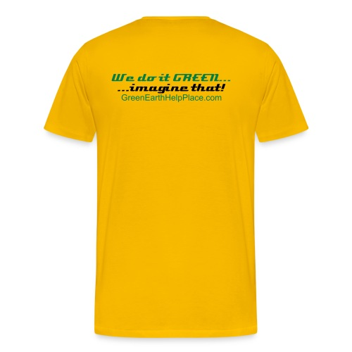 Save the Planet Mens Tee Yellow 2 - Men's Premium T-Shirt