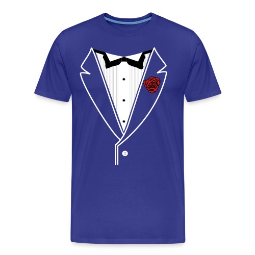 Classy Tuxedo in Heavyweight Tee - Men's Premium T-Shirt