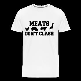 Meats Don't Clash White T-Shirt (Men's) ~ 1850