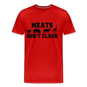 Meats Don't Clash 3XL T-Shirt (Men's) - Men's Premium T-Shirt