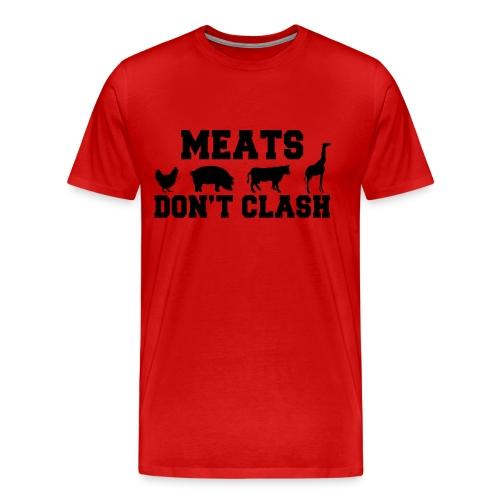 Meats Don't Clash 3XL T-Shirt (Men's) - Men's Premium T-Shirt