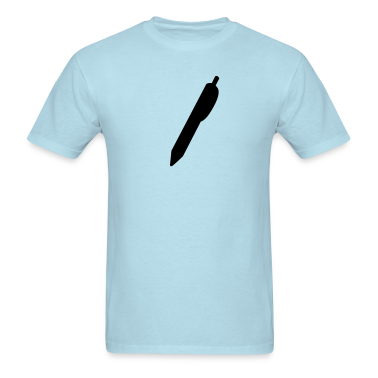 Sky blue Writer pen shape writing biro T-Shirts