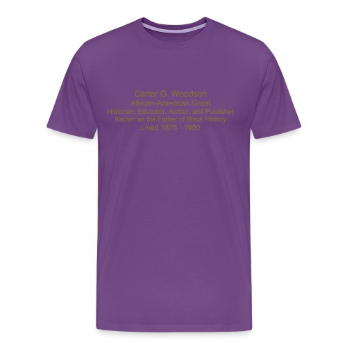Men's Premium T-Shirt - carter g. woodson t-shirt,black history,african-american products