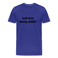 T-Shirts ~ Men's Premium T-Shirt ~ RealMenMarryRabbis - blue - men's sizes