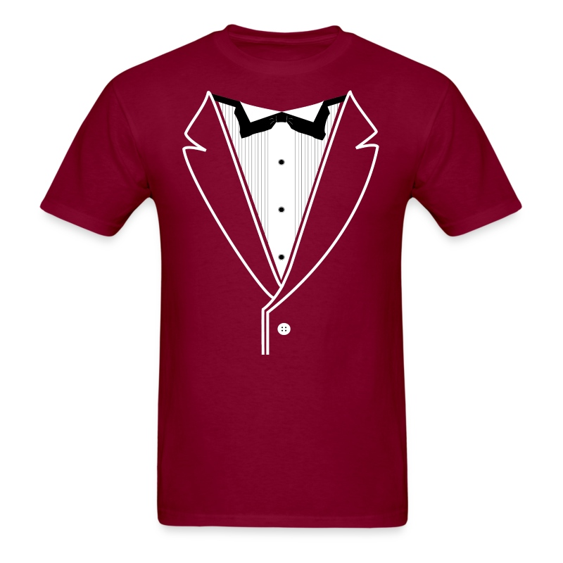 Tuxedo plain t shirt spreadshirt for Make your own tuxedo t shirt