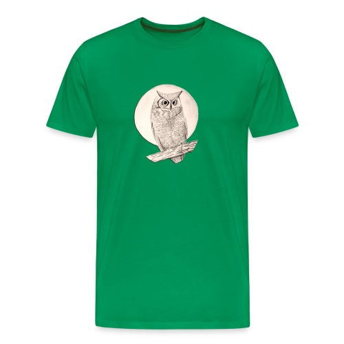 Owl  Sage Green Shirt - Men's Premium T-Shirt