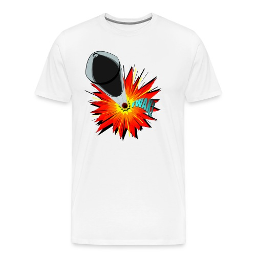Gunshot, 3D comicbook, bullet hole, chest t-shirt - Men's Premium T-Shirt
