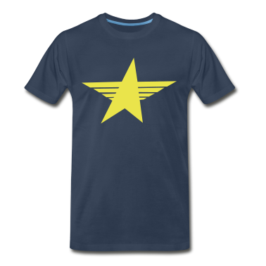 Navy cool sharp soviet star T-Shirts