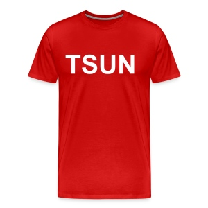 Red TSUN w/ White - Men's Premium T-Shirt