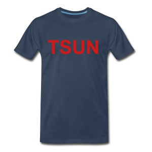 Navy TSUN w/ Red - Men's Premium T-Shirt