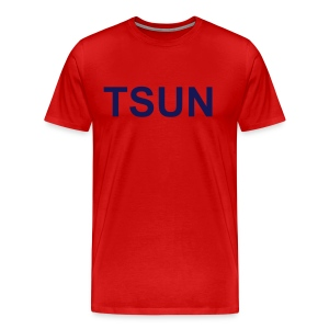 Red TSUN w/ Navy - Men's Premium T-Shirt