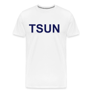 T-Shirts ~ Men's Premium T-Shirt ~ White TSUN w/ Navy