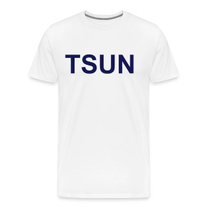 White TSUN w/ Navy - Men's Premium T-Shirt