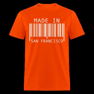 Orange made in san francisco t shirts t shirt spreadshirt for Bespoke shirts san francisco