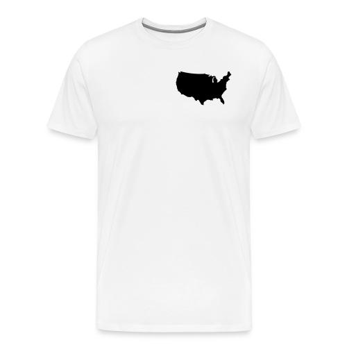 usa map/men's hv wt tshirt - Men's Premium T-Shirt