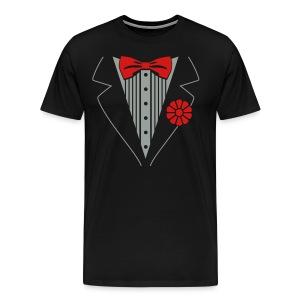 Tuexedo Shirt - Men's Premium T-Shirt