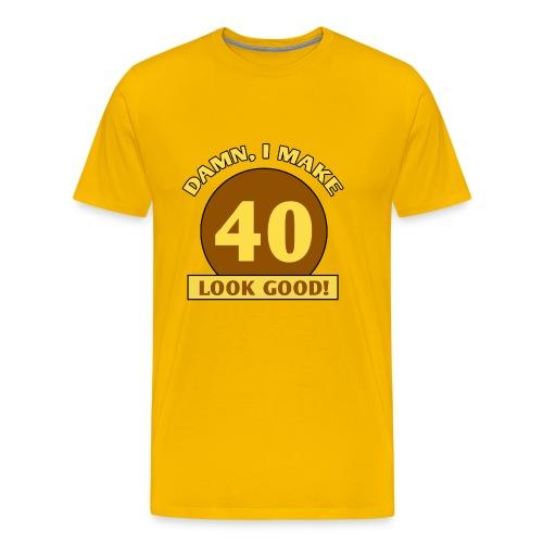 I make forty (40) look good - Men's Premium T-Shirt