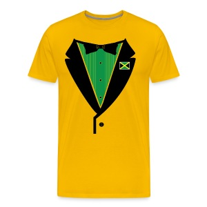 Jamaican Tuxedo on Heavy Weight Tee - Men's Premium T-Shirt