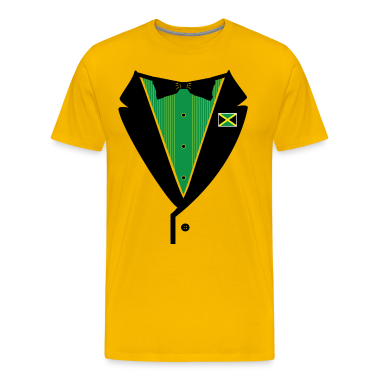 Jamaican Tuxedo on Heavy Weight Tee