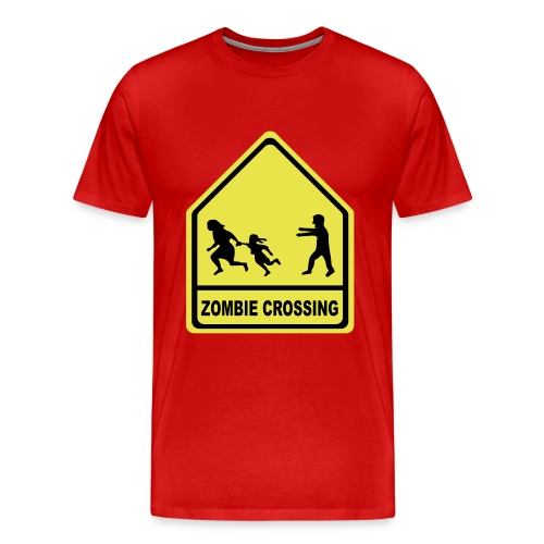 Zombie crossing - Men's Premium T-Shirt