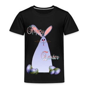 Purple Easter Bunny Lettered - Toddler Premium T-Shirt