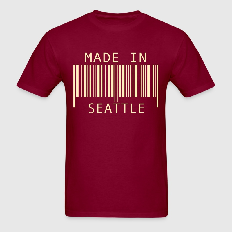 Burgundy Made in Seattle T-Shirts - Men's T-Shirt