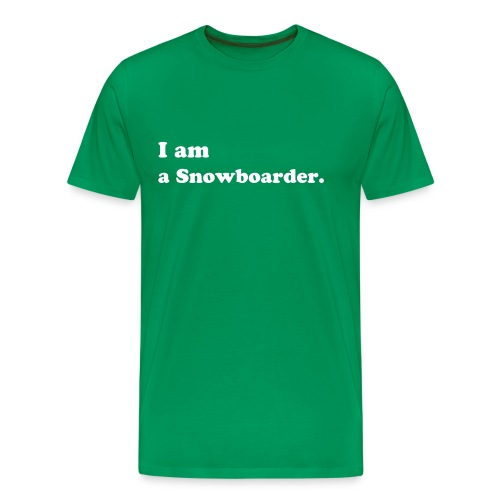 I am a snowboarder - Men's Premium T-Shirt