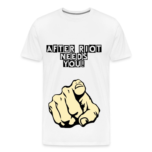 After Riot - Hand Pointing to After Riot - Men's Premium T-Shirt