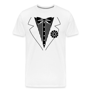 Man T-shirt (Tuxedo) Style - Men's Premium T-Shirt