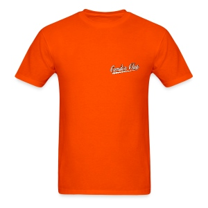 Men's F/B: SMALL CC logo/Always Next Year Here (orange) - Men's T-Shirt