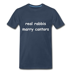 RealRabbisMarryCantors - blue/white - men's sizes - Men's Premium T-Shirt