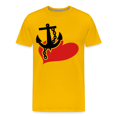 Gold ANCHOR LOVE the navy T-Shirts