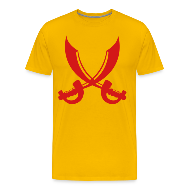 Gold two saber swords crossed for PIRATE costume T-Shirts