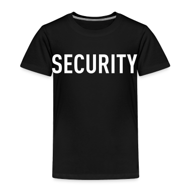 Black Security Tee Toddler Shirts