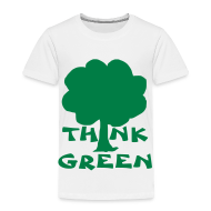 Baby & Toddler Shirts ~ Toddler Premium T-Shirt ~ Think Green Tee