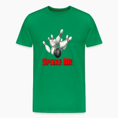 Kelly green Bowling Team Spare Me T-Shirts