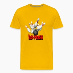 Yellow Bowling Team Rock-N-Bowlers T-Shirts