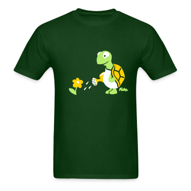 Forest green Turtle (c) T-Shirts