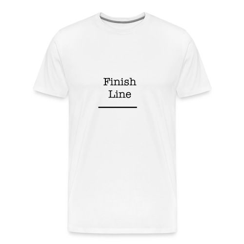 Finish Line t Shirt  - Men's Premium T-Shirt