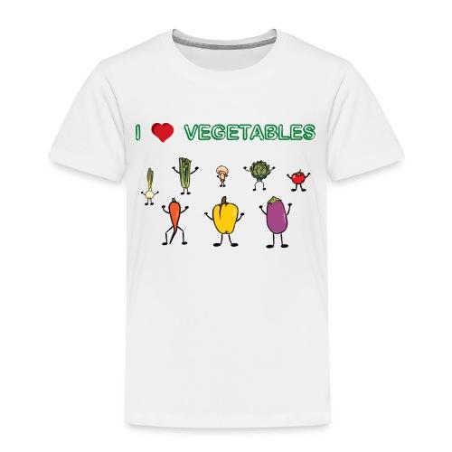White I Love Vegetables Toddler Shirts - Toddler Premium T-Shirt