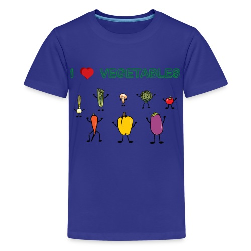 Turquoise I Love Vegetables Kids' Shirts - Kids' Premium T-Shirt