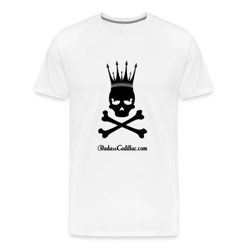 Badass Cadillac - Duck Eyes Skull - Men's Premium T-Shirt